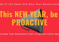 New Year Resolution be Proactive